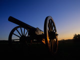 Sunset on Cannon in Manassas Battlefield Park  Prince William County  Virginia  USA