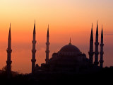 Sunrise Over the Blue Mosque  Istanbul  Turkey