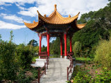 Pagoda in Kunming Garden  Pukekura Park  New Plymouth  Taranaki  North Island  New Zealand
