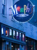 Neon Memphis Sign  Beale Street Entertainment Area  Memphis  Tennessee  USA