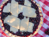 Fresh Baked Huckleberry Pie  Montana  USA