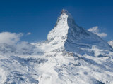 Winter View of The Matterhorn  Blauherd  Zermatt  Valais  Wallis  Switzerland