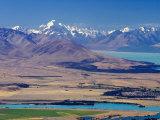 Aoraki  Mt Cook  Lake Pukaki  Twizel and Lake Ruataniwha  South Island  New Zealand