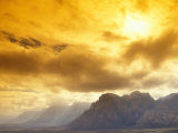 Clouds at Red Rock Canyon National Conservation Area  near Las Vegas  Nevada  USA