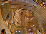 Interior of the Blue Mosque  Istanbul  Turkey