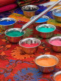 Colored Sand Used by Tibetan Monks for Sand Painting  Savannah  Georgia  USA