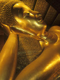 Reclining Gold Buddha at Grand Palace  Bangkok  Thailand