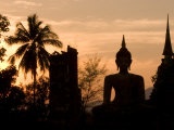 Buddha Statue and Sunset  Thailand