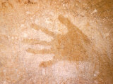 Handprint  Aboriginal Paintings  Raft Point  The Kimberly  Australia