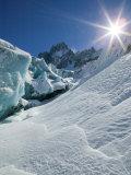 Le Montenvers  Winter Mer de Glace Glacier Ice Cave  Mont Blanc  France