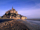 Mont St Michel Island Fortress  Normandy  France