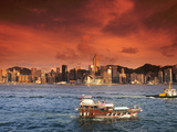 Hong Kong Harbor at Sunset  Hong Kong  China