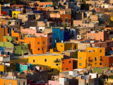 Steep Hill with Colorful Houses  Guanajuato  Mexico