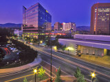 Night View of Downtown Boise  Idaho  USA