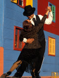 Tango Dancers on Calle Caminito  La Boca District  Buenos Aires  Argentina