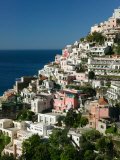 Town View from Amalfi Coast Road  Positano  Amalfi  Campania  Italy