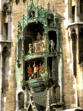 Glockenspiel Details  Marienplatz  Munich  Germany