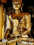 Golden Buda of Shwedagon Pagoda  Yangon  Myanmar