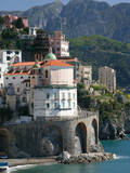 Town View from Coast Road  Amalfi  Campania  Italy