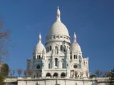 Morning View of Basilique du Sacre Coeur  Montmartre  Paris  France