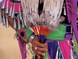 Native American in Colorful Regalia for Wild Horse Casino Pow Wow  Oregon  USA