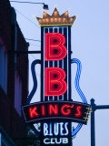 Signs for BB King's Club  Beale Street Entertainment Area  Memphis  Tennessee  USA