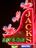 Neon Sign for Jack's BBQ Restaurant  Lower Broadway Area  Nashville  Tennessee  USA