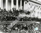 President Abraham Lincoln gives inaugural speech during second inauguration on March 4th 1865