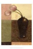 Ebony Vase with Tulips I