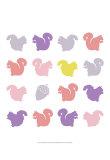 Animal Sudoku in Pink VI Reproduction d'art par Chariklia Zarris
