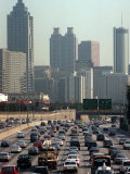 Traffic Backs up on the Downtown Connector in Atlanta