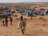 Children Play in the North Darfur Refugee Camp of El Sallam on Wednesday October 4  2006