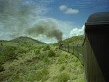 A Train is Seen Approaching Osier  Colorado  August 7  2005
