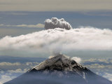 A Plume of Smoke and Steam Rises from the Popocatepetl Volcano