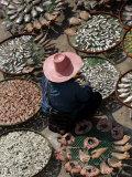 A Thai Woman Sells Dried Fish in Bangkok  Thailand  January 26  2007