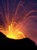 Lava Bursts from Mount Etna  Near Nicolosi  Italy  Wednesday July 25  2001