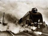 Dominon of Canada Steam Train Leaving London Kings Cross for Edinburgh  June 1938
