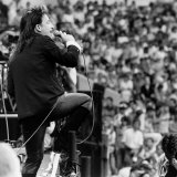 Bono with U2 on Stage at Live Aid Concert  Wembley Stadium  1985