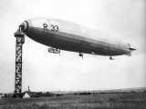 The Airship R33 is Pictured at Croydon  July 1921