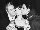 Maria Callas with Co Stars Tito Gobbi and Meneto Cioni Royal Opera House Covent Garden  1965