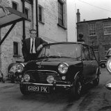Peter Sellers Has Had a Few Extra Improvements Made to His Mini-Cooper in 1963
