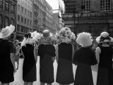 Mad as a Hatter: Mannequins Modelling Hats for the 1966 Royal Ascot Festival  May 1966