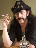 Lemmy Smoking Cigarette  Hard Rock Band Motorhead  October 2002