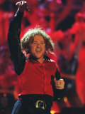 Mick Hucknall of Simply Red Performing at the Brit Awards