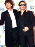 MTV Music Awards in Ireland U2 Singer Bono and Rolling Stones Singer Mick Jagger  November 1999