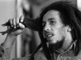 Bob Marley Jamaican Reggae Singer/Writer Talking Duing an Interview for the Daily Mirror