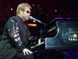 Elton John in Concert on His World Tour for His Firet Night in the UK at Wembley Arena