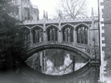 Bridge of Sighs  St Johns College  Crossing the River Cam in Cambridge  March 1974