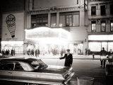 Night Time on Broadway  New York  January 1964