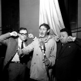 The Goons  Harry Secombe and Peter Sellers Puts Their Fingers in Their Ears as Spike Milligan Sings